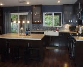 kitchen floor ideas with dark cabinets pictures of kitchens with dark cherry cabinets floors