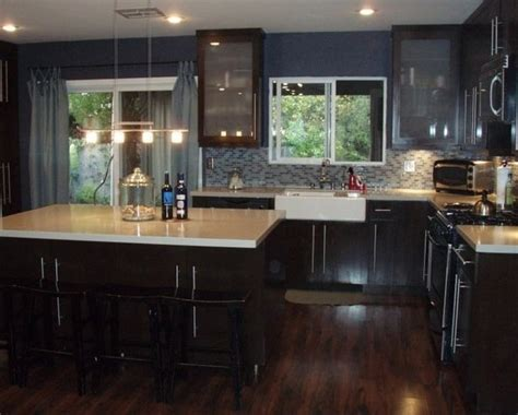 dark kitchen cabinets with dark floors dark wood cabinets dark laminate wood flooring white