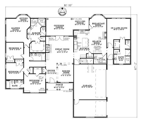 floor plans with inlaw suites house plans with a mother in law suite home plans at