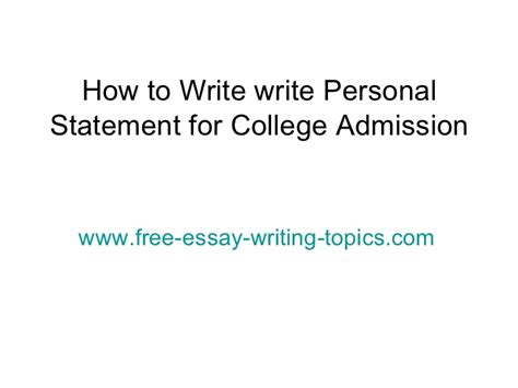 Personal Essay For College Admission Sles by What Is Personal Statement For College Application Personal Statement Uc Admissions