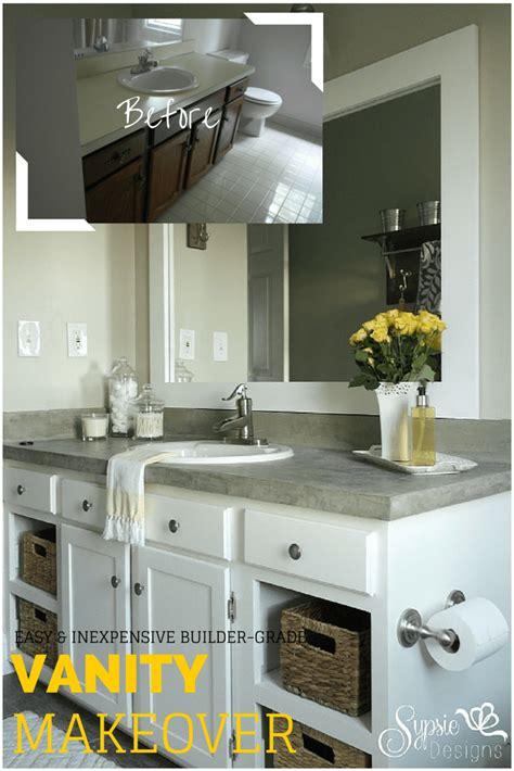 Builder Bathroom Makeover by Builder Grade Bathroom Vanity Makeover Plus Tutorial