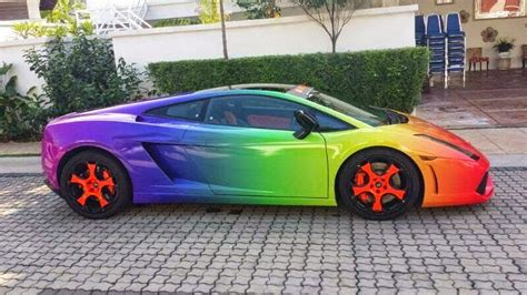 rainbow cars rainbow lamborghini gallardo in malaysia