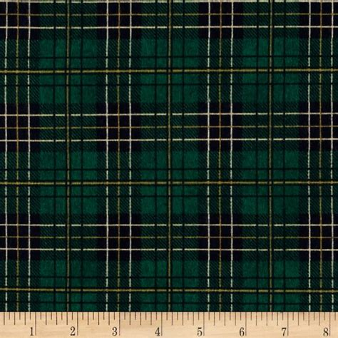 Tartan Navy Green mountain lodge flannel classic plaid green navy gold discount designer fabric fabric
