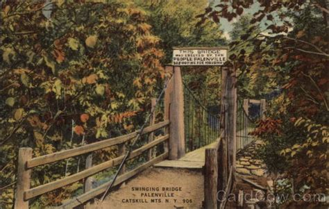 swinging bridge ny swinging bridge catskill mountains palenville ny