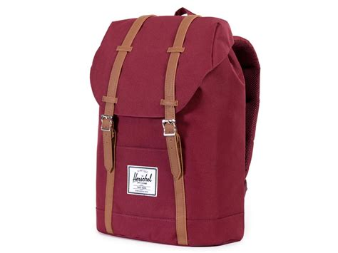 Herschel Macbook Tas herschel retreat rugzak laptoptas wine