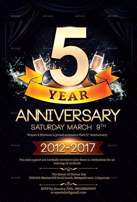 anniversary poster template anniversary flyer by eyestetixstudio graphicriver