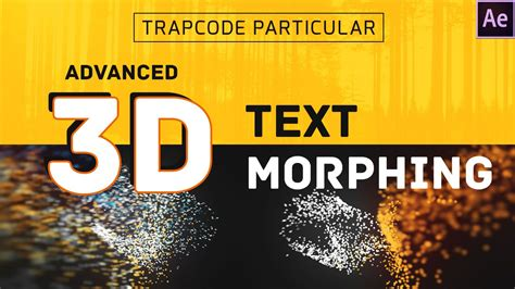 tutorial after effect text 3d after effects tutorial 3d text morphing youtube