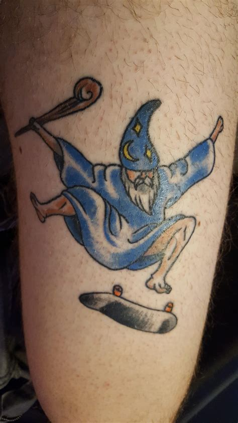 mr tattoo burlington nj kickflipping wizard by dave nielsen at ink