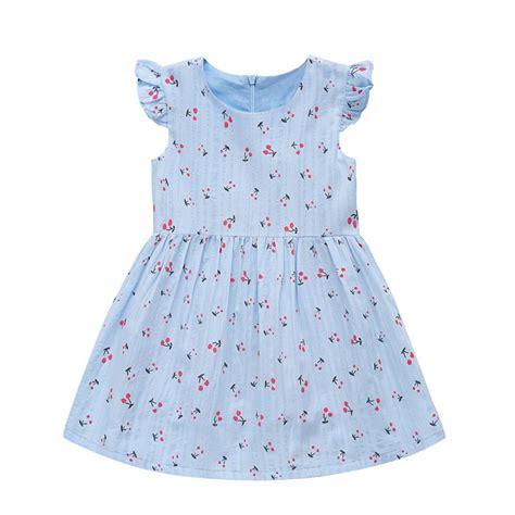 Dress Petal Princess 2 6 y baby dress summer princess petal sleeve mini dress baby floral printed dresses