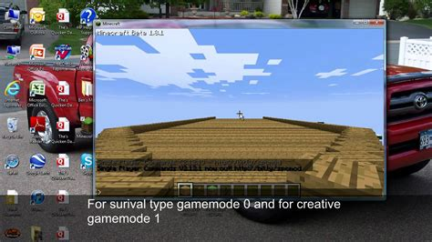 game mode change minecraft how to change your game mode in minecraft youtube