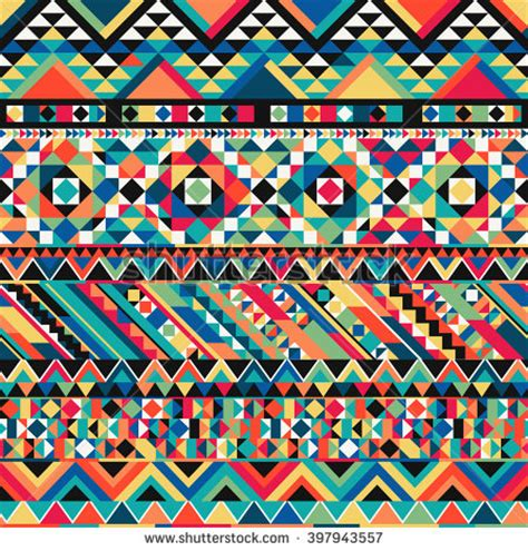 colorful aztec wallpaper ancient mexican aztec colorful ornamental fabric stock