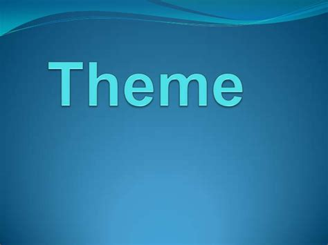 theme in literature powerpoint high school theme used in literature