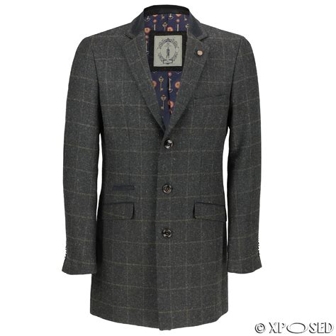 A Salt Pepper Tweed Trench From Navy Adds Style To Even The Most Challenged Budget Fashiontribes Fashion by Mens Wool Mix 3 4 Herringbone Tweed Check Vintage