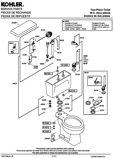 toilet tank parts diagram running water in toilet tank kohler parts repair diagram