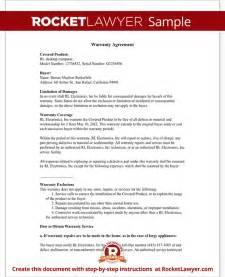 warranty template warranty agreement template warranty agreement with sle