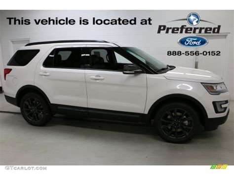 white ford explorer sport 2017 oxford white ford explorer xlt 4wd 115127961