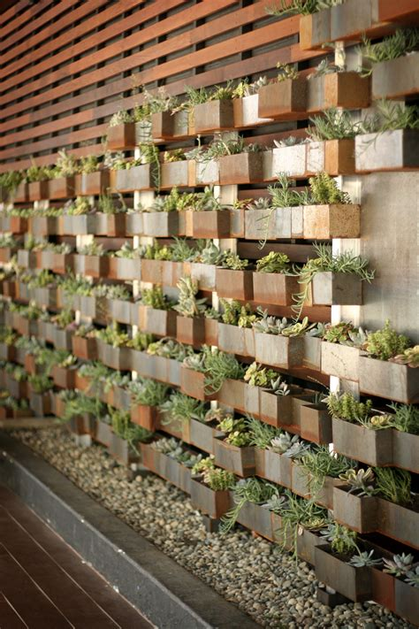 Vertical Garden Restaurant Restaurant Exterior On Restaurant Patio
