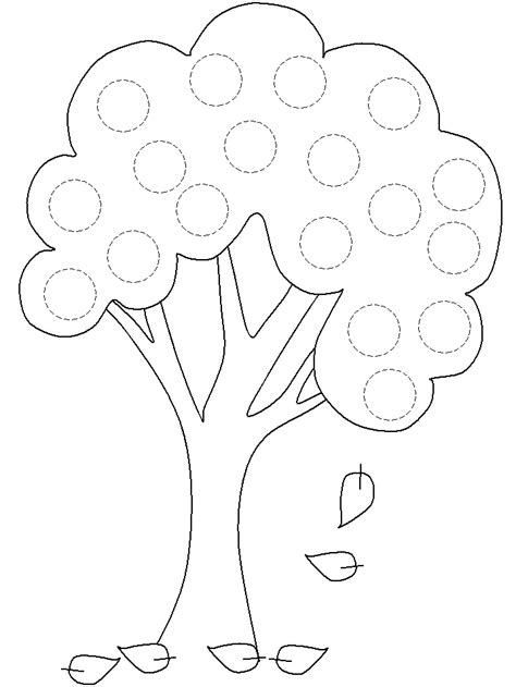 free printable tree template az coloring pages