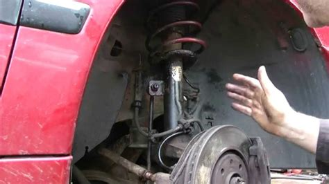Shock Peugeot 406 peugeot suspension strut removal and top mount bearing replacement