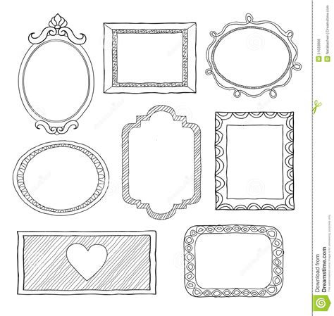 how to create doodle frames set of doodle frames stock vector illustration of