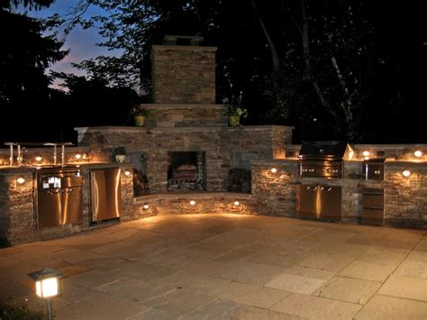 Outdoor Kitchen Lighting Landscape Design Landscape Contractors Elaoutdoorliving Central Bucks Montgomery County Pa