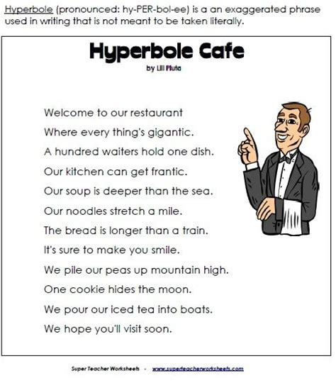 biography definition ks2 hyperbole cafe is a fun poem for teaching kids about using