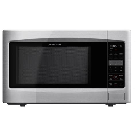 Microwave Countertop Stainless Steel by Shop Frigidaire 2 2 Cu Ft 1 200 Watt Countertop Microwave Stainless Steel At Lowes