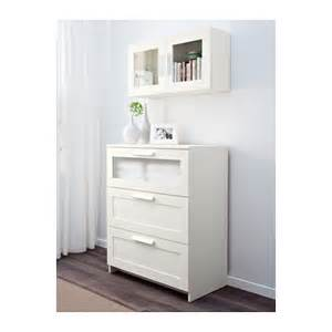 Ikea Storage Cabinets Brimnes Wall Cabinet With Glass Door White 39x39 Cm Ikea