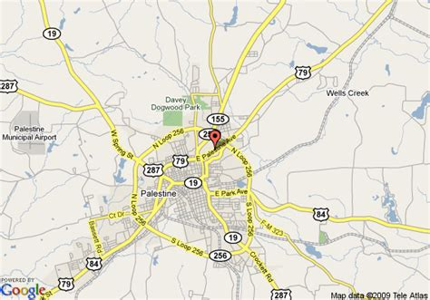 palestine texas map map of quality inn suites palestine