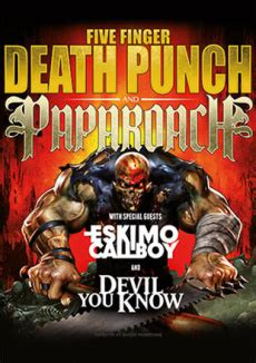 five finger death punch kung fu five finger death punch papa roach tickets karten