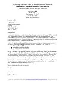 Cover Letter Exles For College Students by Cover Letter Template For Undergraduate Students