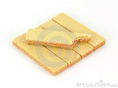 Wafer Top bitten sugar wafer top layer stock photo image 13956570