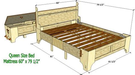bed in a box plans original queen size bed in a box 111 3d woodworking plans