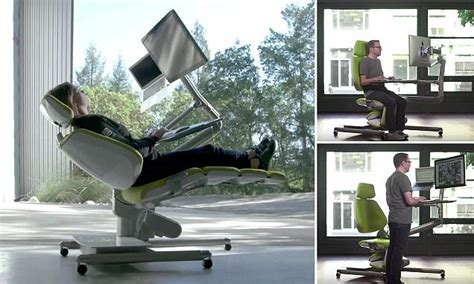 lay down desk chair flexible altwork station lets you sit stand and even lie