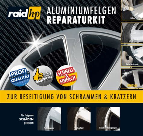 kfz reparatur vergleich raid 340001 kfz aluminiumfelgen reparatur kit silber bei