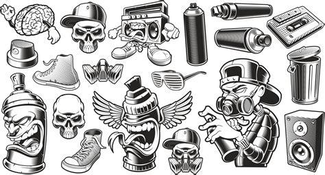 graffiti stickers set  vector cdr  axisco