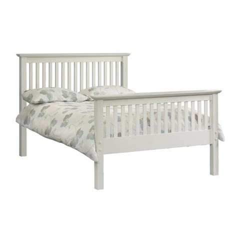 bed frame deals double high foot end stone white barcelona frame and