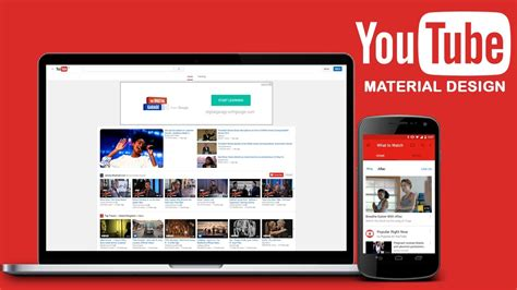 material design google youtube how to access open youtube website in material design view