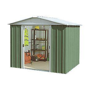 yardmaster sliding door apex shed 8 x 9 metal sheds