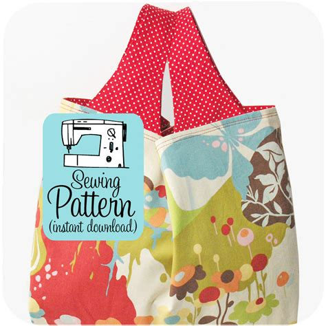 pattern for fabric grocery bags grocery bag pdf pattern reusable market by michellepatterns