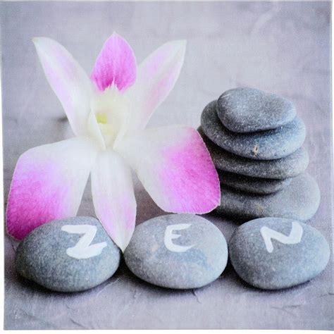 imagenes zen para facebook toile imprim 233 e 28x28cm quot galets zen quot gris