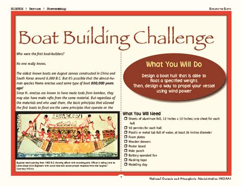 boat building challenge boat building lesson plans worksheets reviewed by teachers