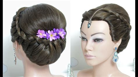beautiful hairstyle for wedding function hair tutorial