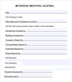 board template pdf business meeting agenda template 5 free