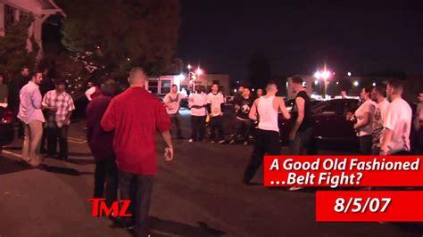 ti swings on floyd ti vs floyd mayweather jr tmz fight club youtube