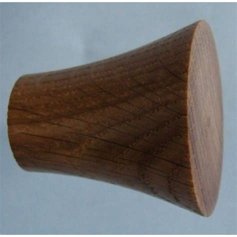 Oak Knobs by Knob Style Q 40mm Oak Lacquered Wooden Knob