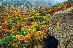 fall colors arkansas ozark mountain fall scenery