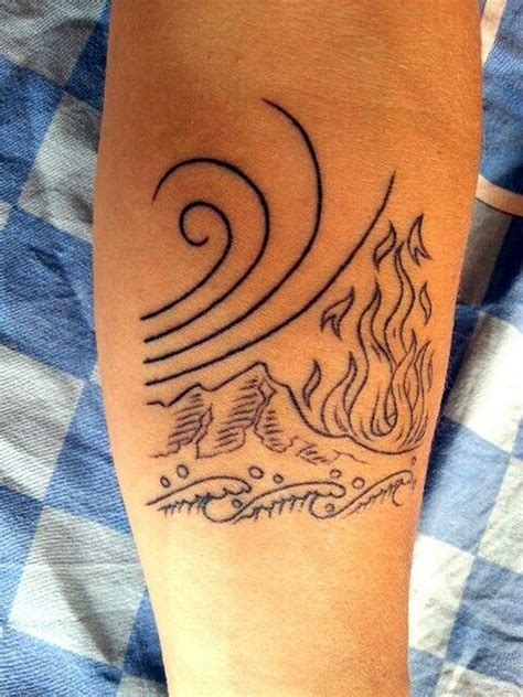 fire and water tattoo 30 elemental ideas and suggestions bored