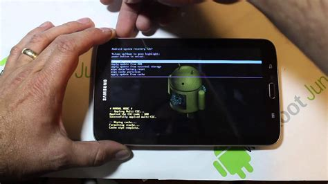 reset on samsung tablet samsung galaxy tab 3 factory reset in recovery youtube
