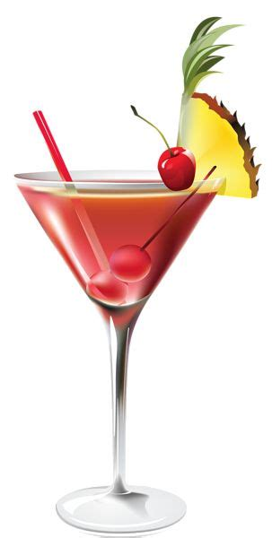 mixed drink clip cocktail with pineapple png clipart picture summer